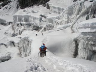 Sherpas and climbers in the stunning Amphulapcha