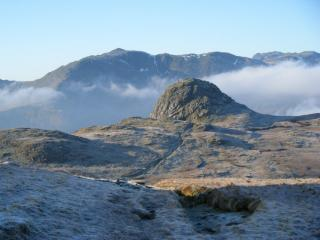 Pike o Stickle with Bowfell in the background....