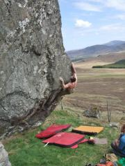 Dave Macleod of the FA of Strongbow, Laggan Boulders