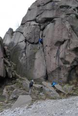 Black rocks, cool jamming route