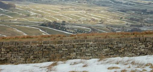 Walls and snow Haworth moors