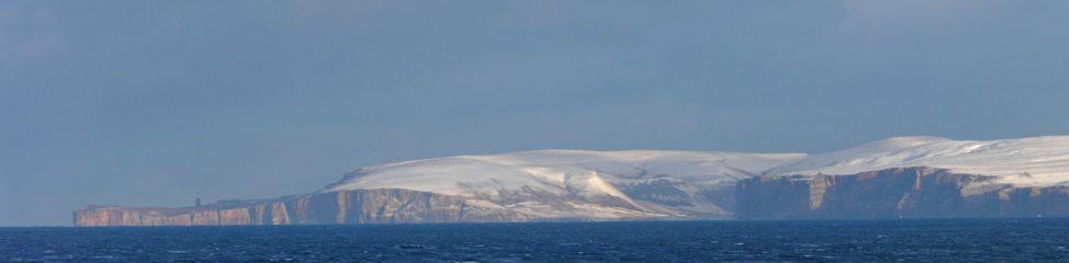 West coast of Hoy seen across the Pentland Firth from near Dunnet Head