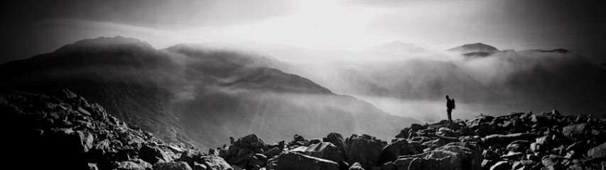Looking over toward Nant Ffrancon from Tryfon having just finished the Groove Arete.