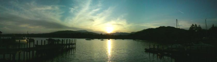 Windermere. A 3 photo stitch using the panorama feature on my camera.