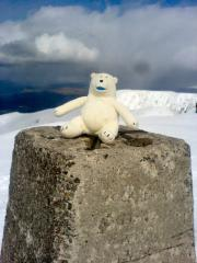 Clarence on The highest point in the UK...