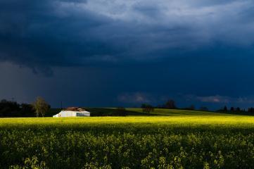 Storm Clouds over Chapelle La Reine, Font