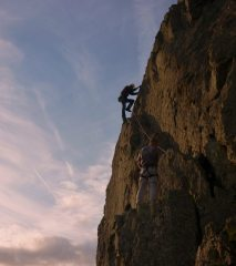 lovely evening climb