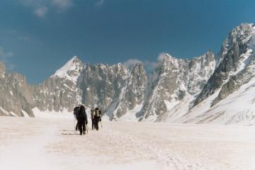 Mont Dolent From Argentiere Glacier