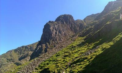 Pillar Rock, taken from the descent back to Ennerdale