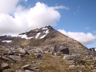 Summit of Sgor An Lochain Uaine, looking up Angel's (NE) Ridge