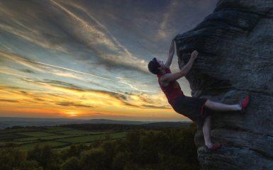 Sunset, Climbing, Content