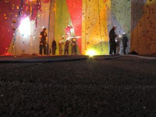 Head torch climbing.