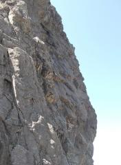 Climbers on crux pitch of Torro
