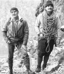Jed,on the right, who died on Stob Coire Nan Lochan on 30/3/02.
