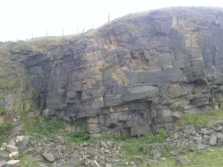 The Left hand side of the quarry
