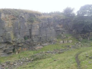 The right hand side of the quarry