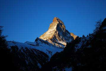 The Matterhorn catching the morning light at 7am (March 2012)