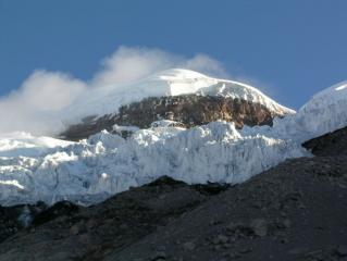 Cotopaxi summit seen from the refugio
