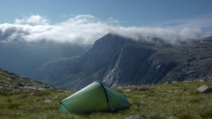 My tent, and shelter stone crag