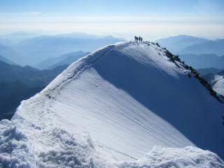 Weissmies snow arete....