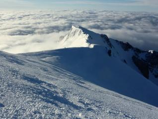 View from Mont Blanc summit to MB de Courmayer