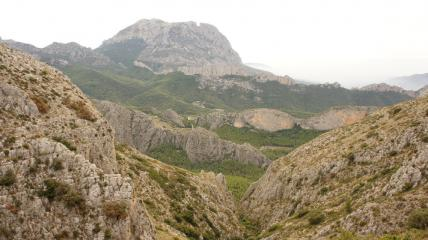 View of Sella valley and the Puig Campana from Morro Carlos