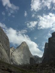 Peak 4810 in Kyrgyzstan, 1200 vertical meters of granite