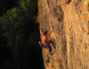 3rd Pitch of Yellow Edge in the golden glow of the setting sun.