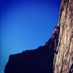 Sport Climbing Telpyn Point sunny october sun !!!