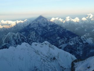 Everest's Shadow between the South Summit and Hillary Step