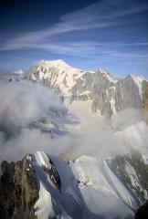 Mont Blanc & Rochefort Taken On Gd Jorasses Traverse