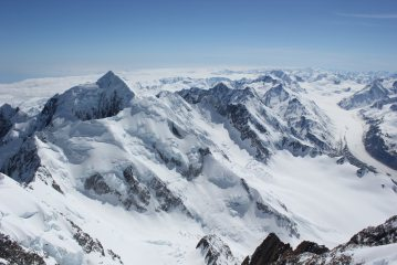 Mount Tasman, Grand Plateau and Tasman Glacier from Mt Cook