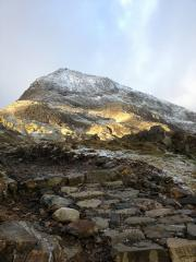 Approach to Crib Goch - early morning, early December