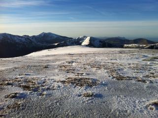 Snowdon & The Glyderau from Pen yr Ole Wen