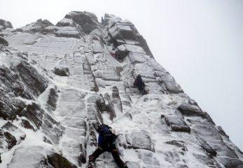 Climbers on The Seam