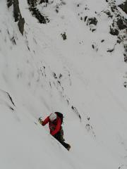 Exiting Broad Gully to the Left