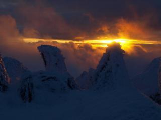 Very last light on the summit of Bowfell