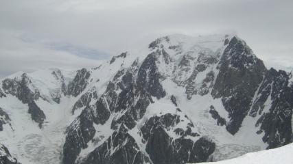 View from Petite Mont Blanc showing the White Lady from the Miage side