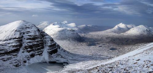 February in Torridon :North-west from Ruadh Stac Mor - Beinn Eighe
