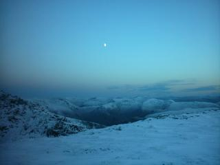 Moon Rise from Glen Coe