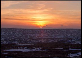 sunset near High Cup Nick