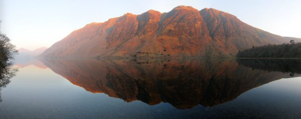 Wasdale screes at sunset from Wasdale YHA, the end of a magical day.