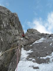 Andrew leading the second pitch in gorgeous weather