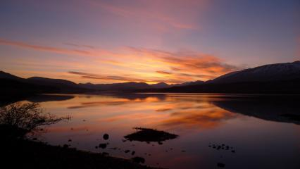 Sunset just north of Bridge of Orchy