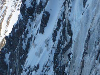 climber on hadrians wall