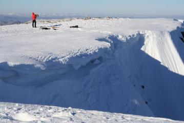 Final Pitch and cornice - all a bit soft in the sun