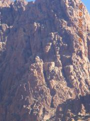 Crag U Lower showing Harbinger and surrounding routes