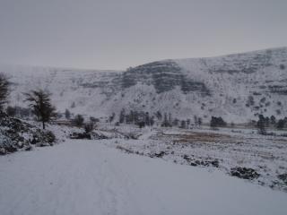 Craig Cwm-Du Brecon Area showing three winter lines