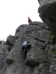The Plumb at Warton Upper Crag.