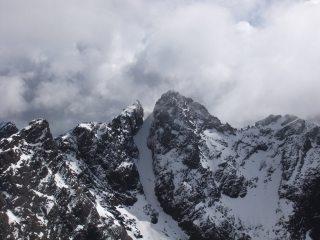 Sgurr Alasdair and Sgurr Thearlaich looking Alpine.